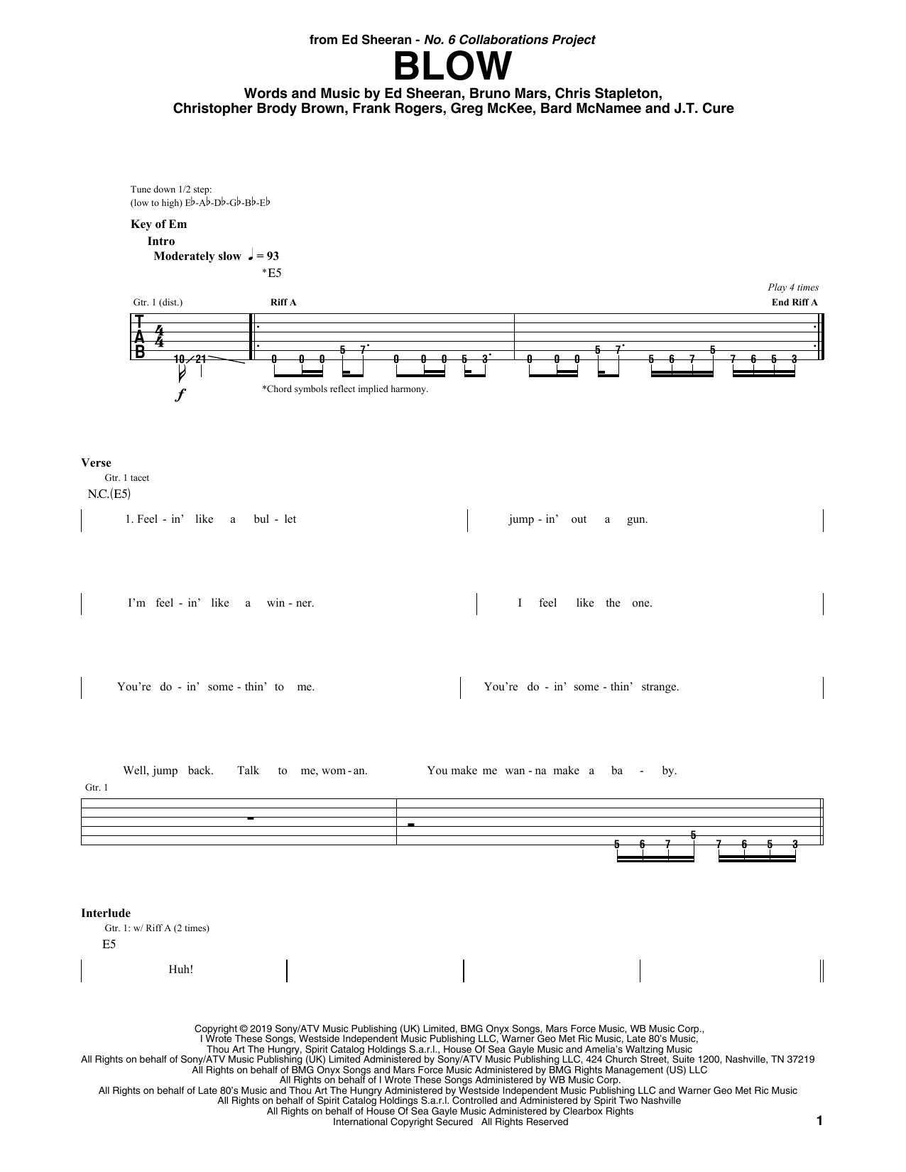BLOW (Guitar Rhythm Tab)