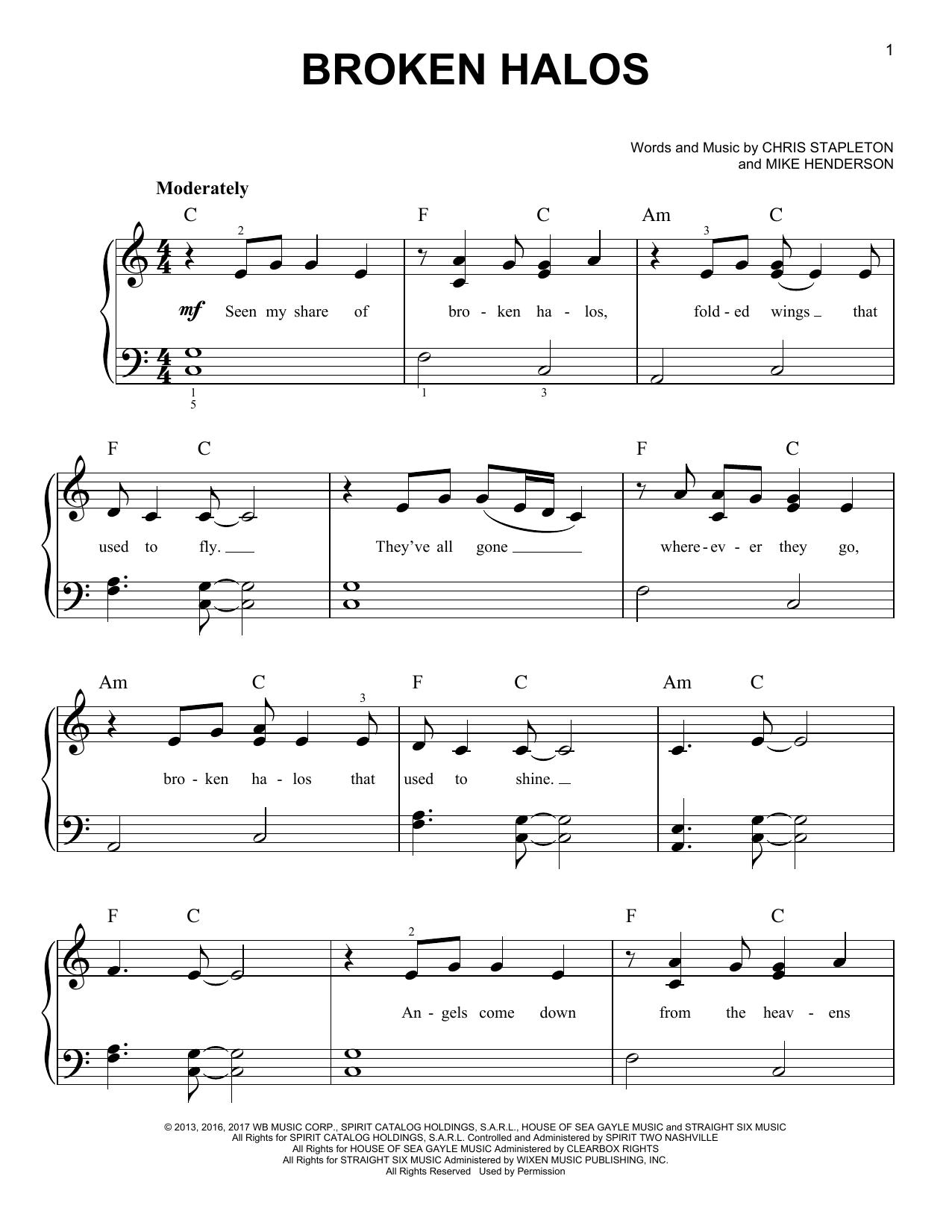 Broken Halos (Very Easy Piano)