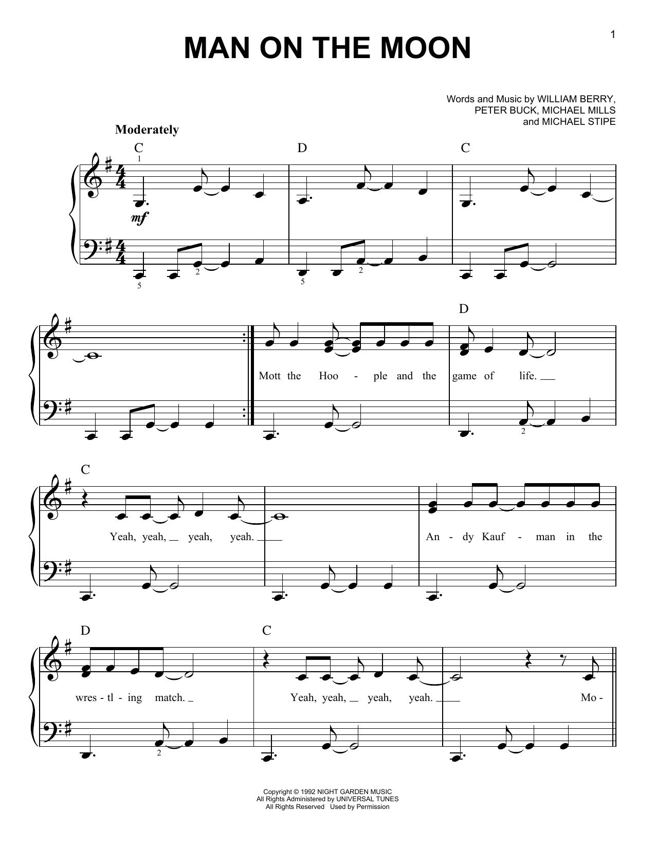 Man On The Moon (Very Easy Piano)