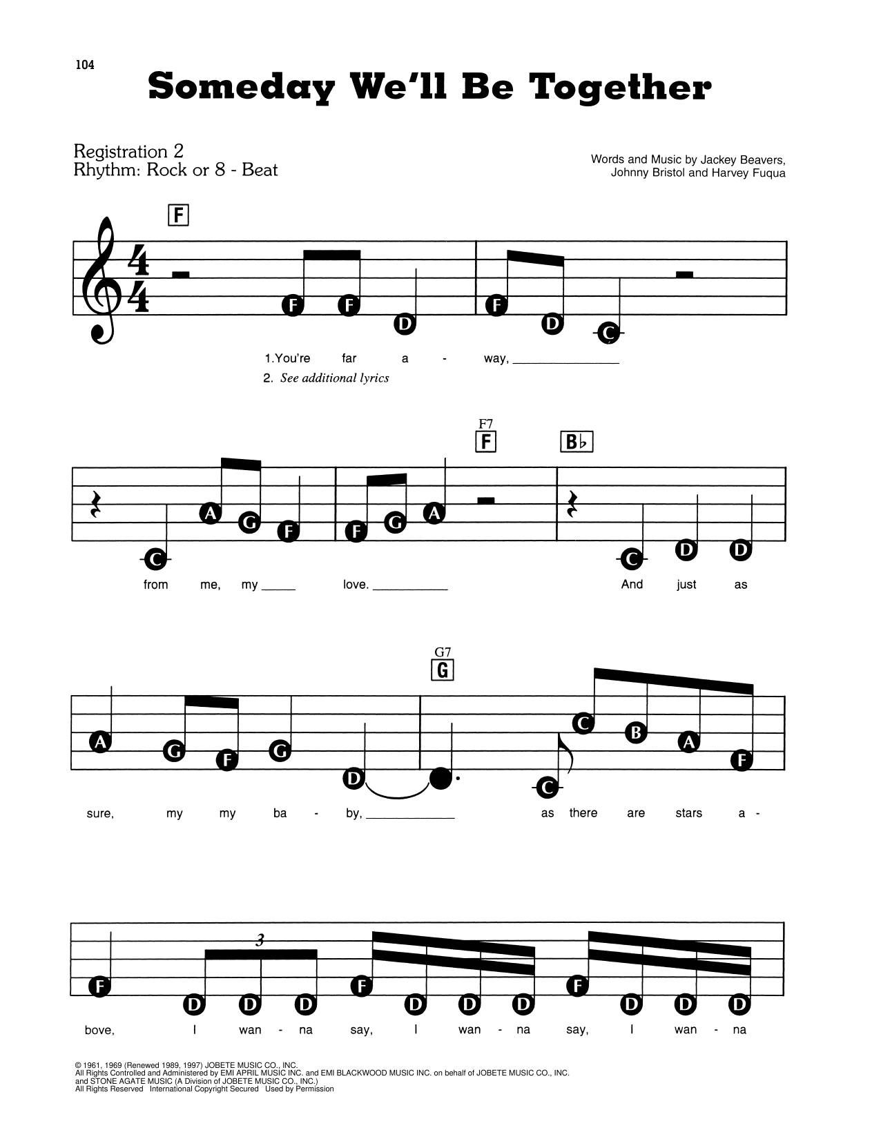 Someday We'll Be Together Sheet Music