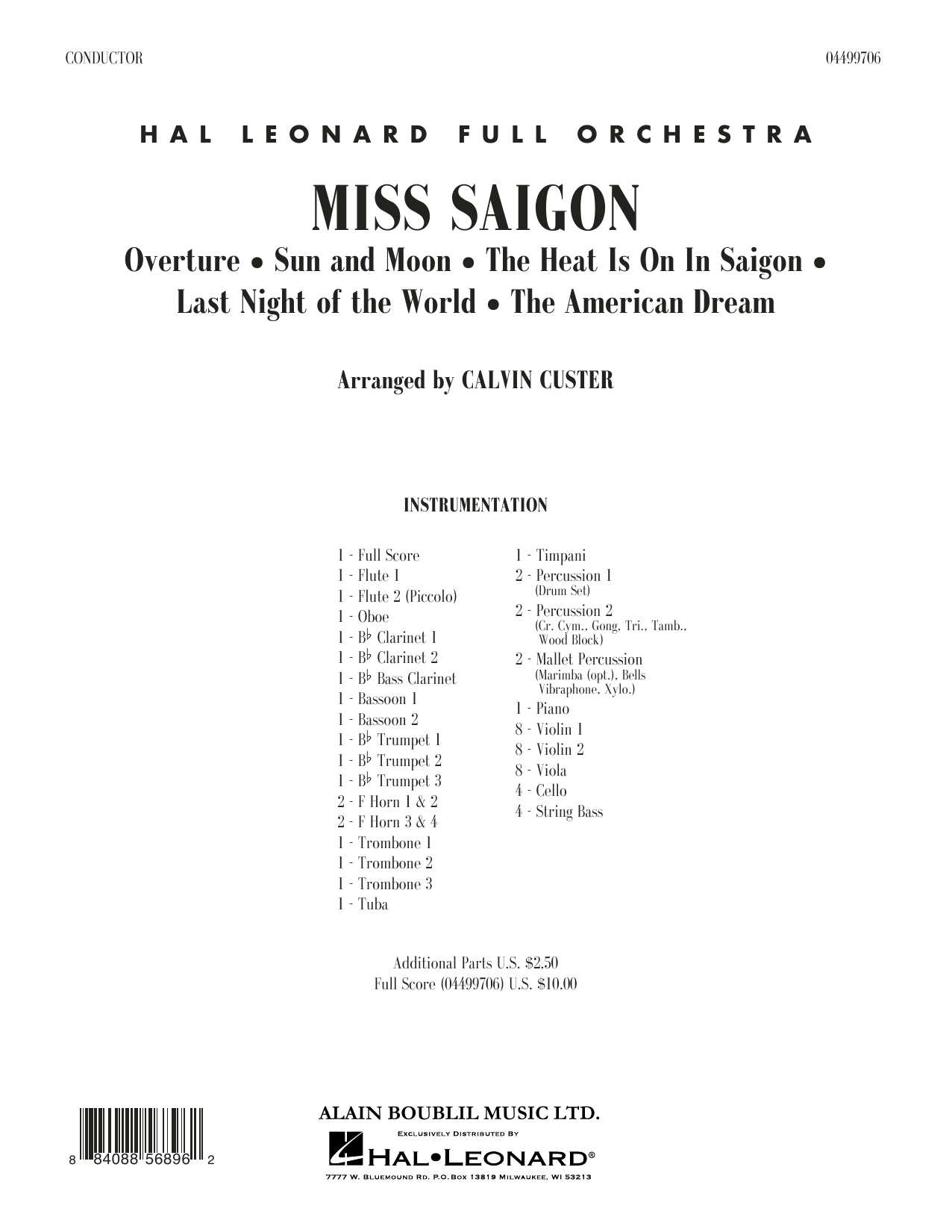 Miss Saigon (arr. Calvin Custer) - Full Score (Full Orchestra)