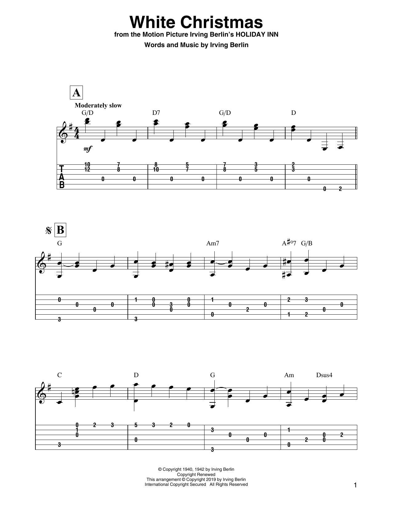 White Christmas (Solo Guitar Tab)