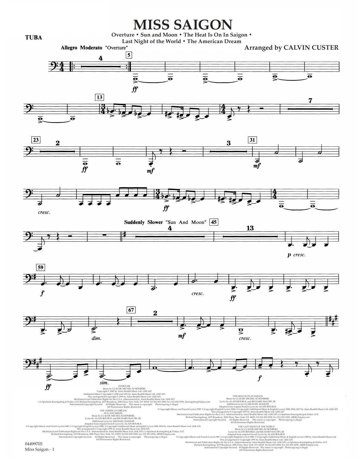 Miss Saigon (arr. Calvin Custer) - Tuba (Full Orchestra)