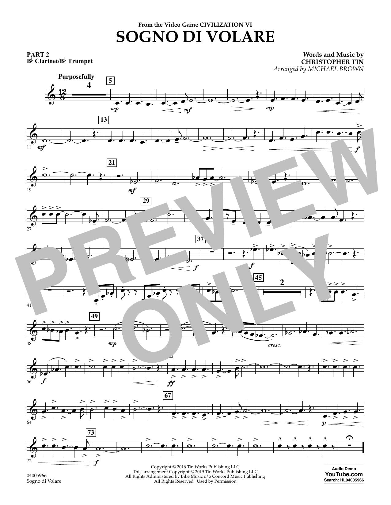 Sogno di Volare (from Civilization VI) (arr. Michael Brown) - Pt.2 - Bb Clarinet/Bb Trumpet (Flex-Band)