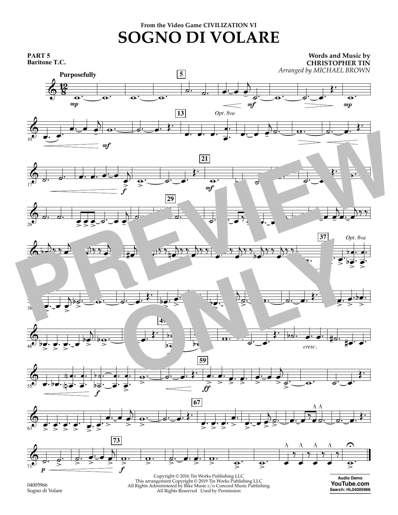 Sogno di Volare (from Civilization VI) (arr. Michael Brown) - Pt.5 - Baritone T.C. (Flex-Band)