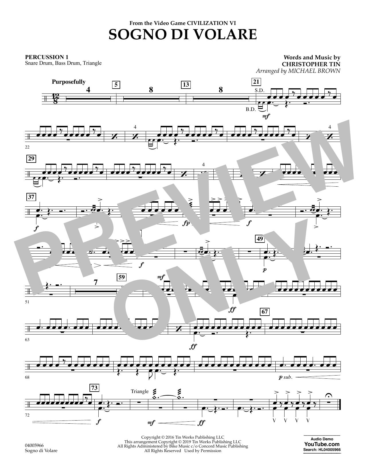 Sogno di Volare (from Civilization VI) (arr. Michael Brown) - Percussion 1 (Flex-Band)