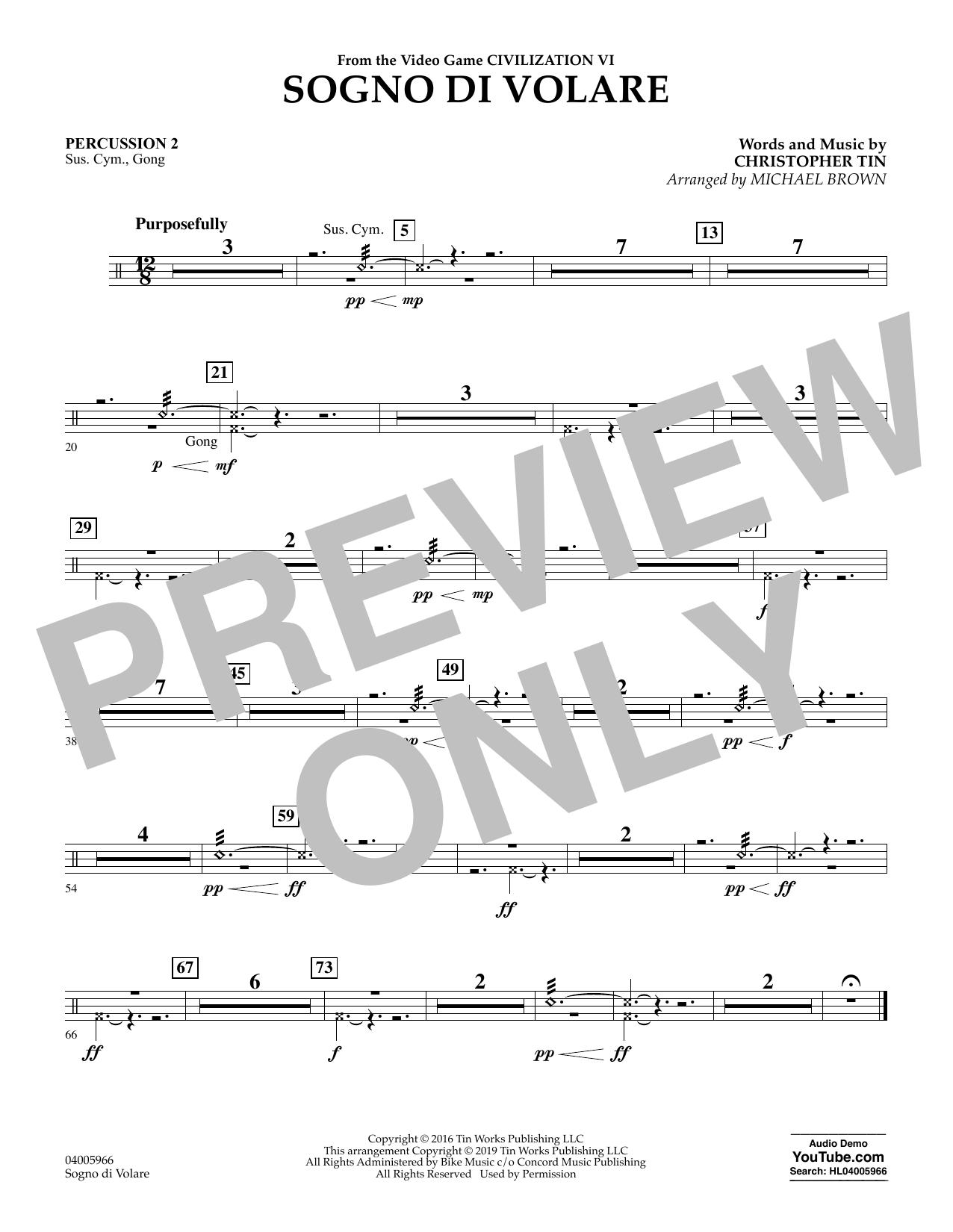 Sogno di Volare (from Civilization VI) (arr. Michael Brown) - Percussion 2 (Flex-Band)