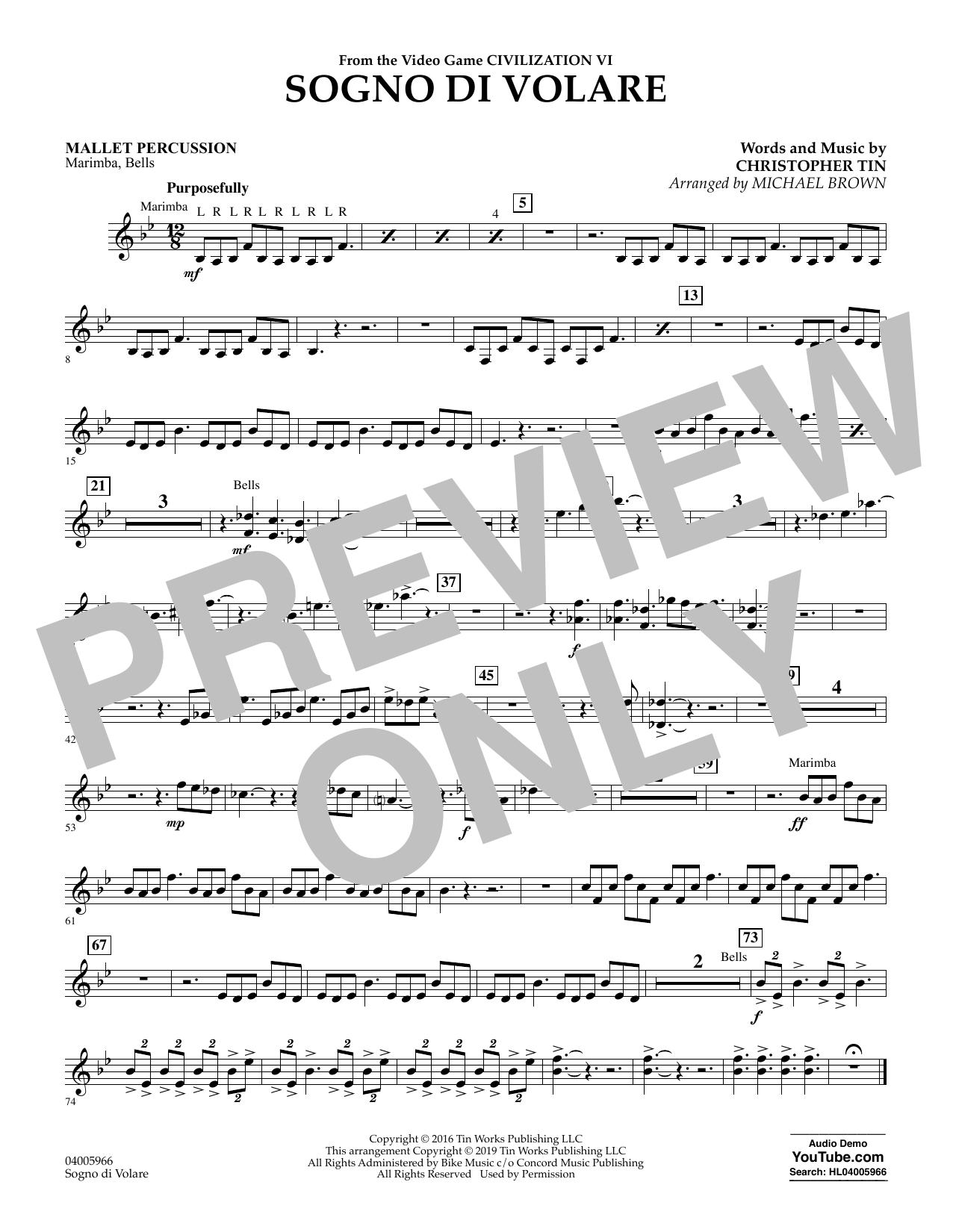 Sogno di Volare (from Civilization VI) (arr. Michael Brown) - Mallet Percussion (Flex-Band)