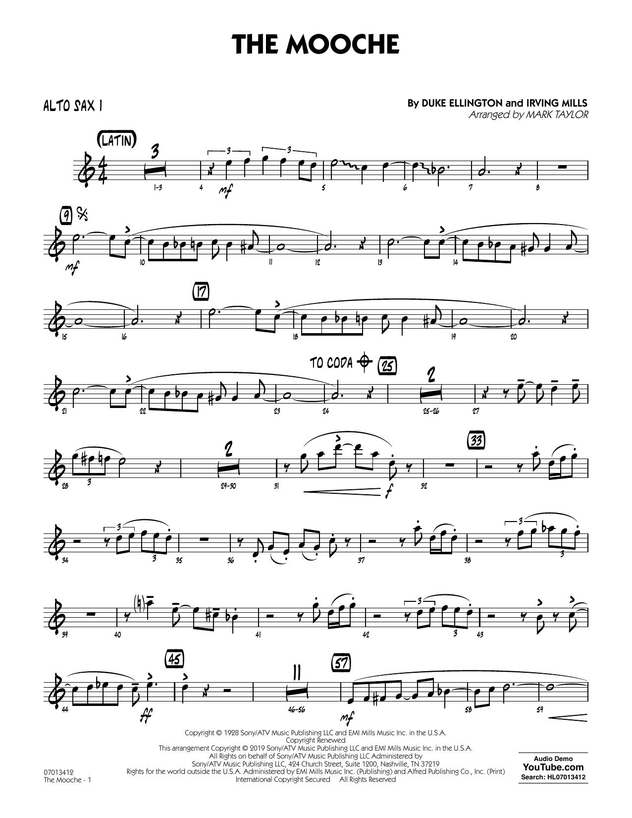 The Mooche (arr. Mark Taylor) - Alto Sax 1 (Jazz Ensemble)