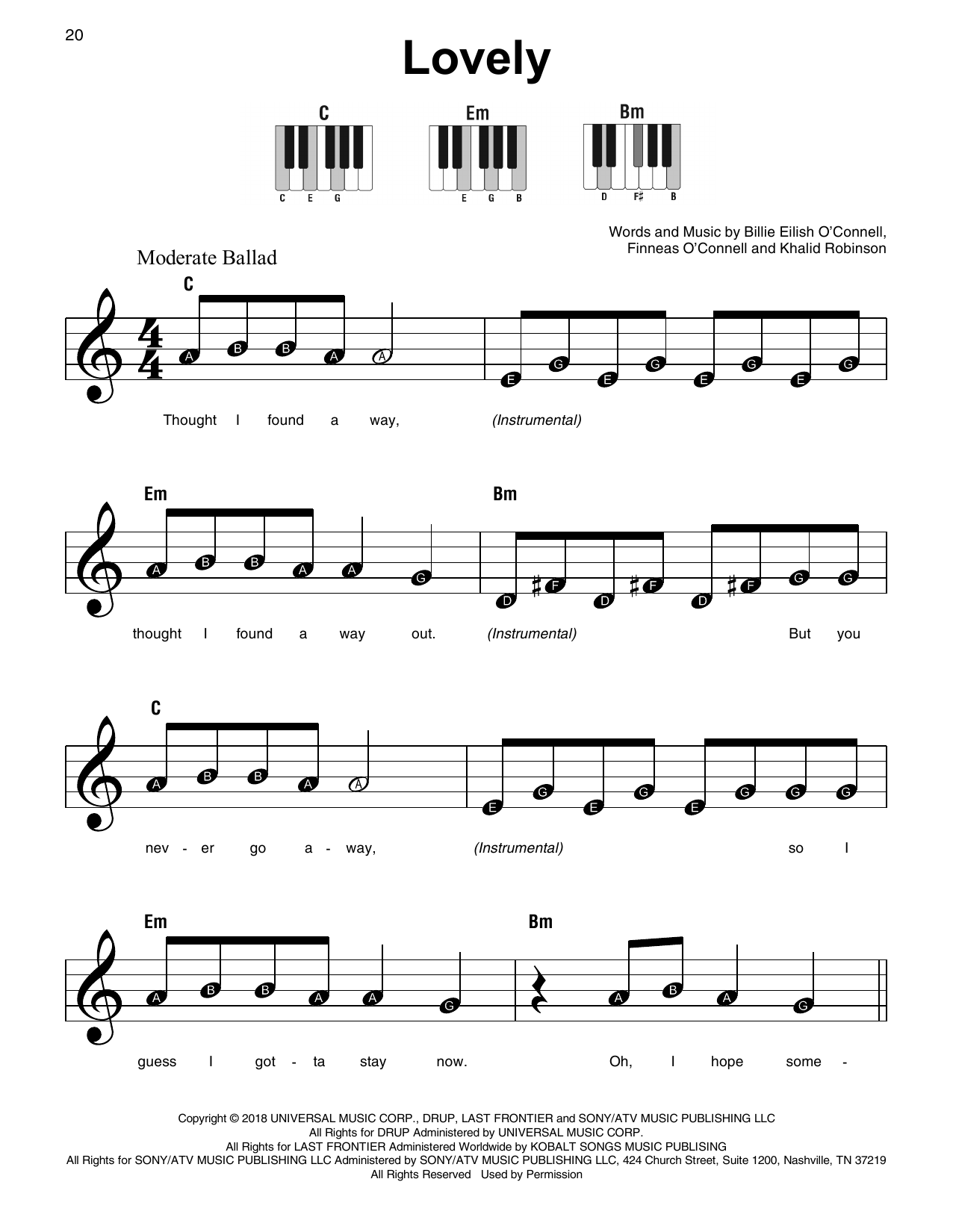 lovely (from 13 Reasons Why) Sheet Music