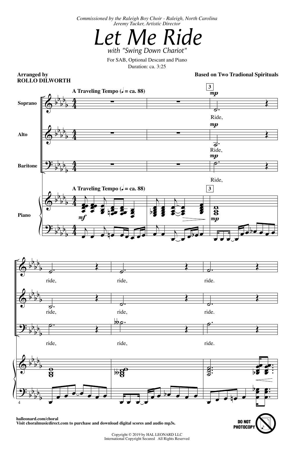 Let Me Ride (arr. Rollo Dilworth) (SAB Choir)
