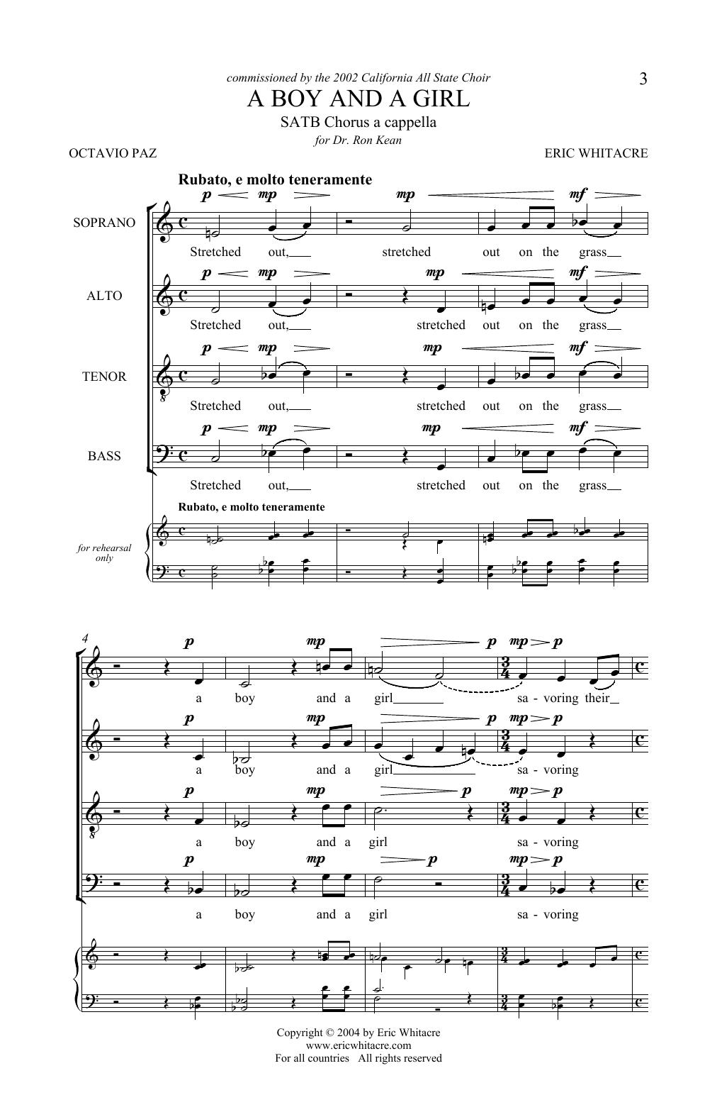 A Boy And A Girl (SATB Choir)