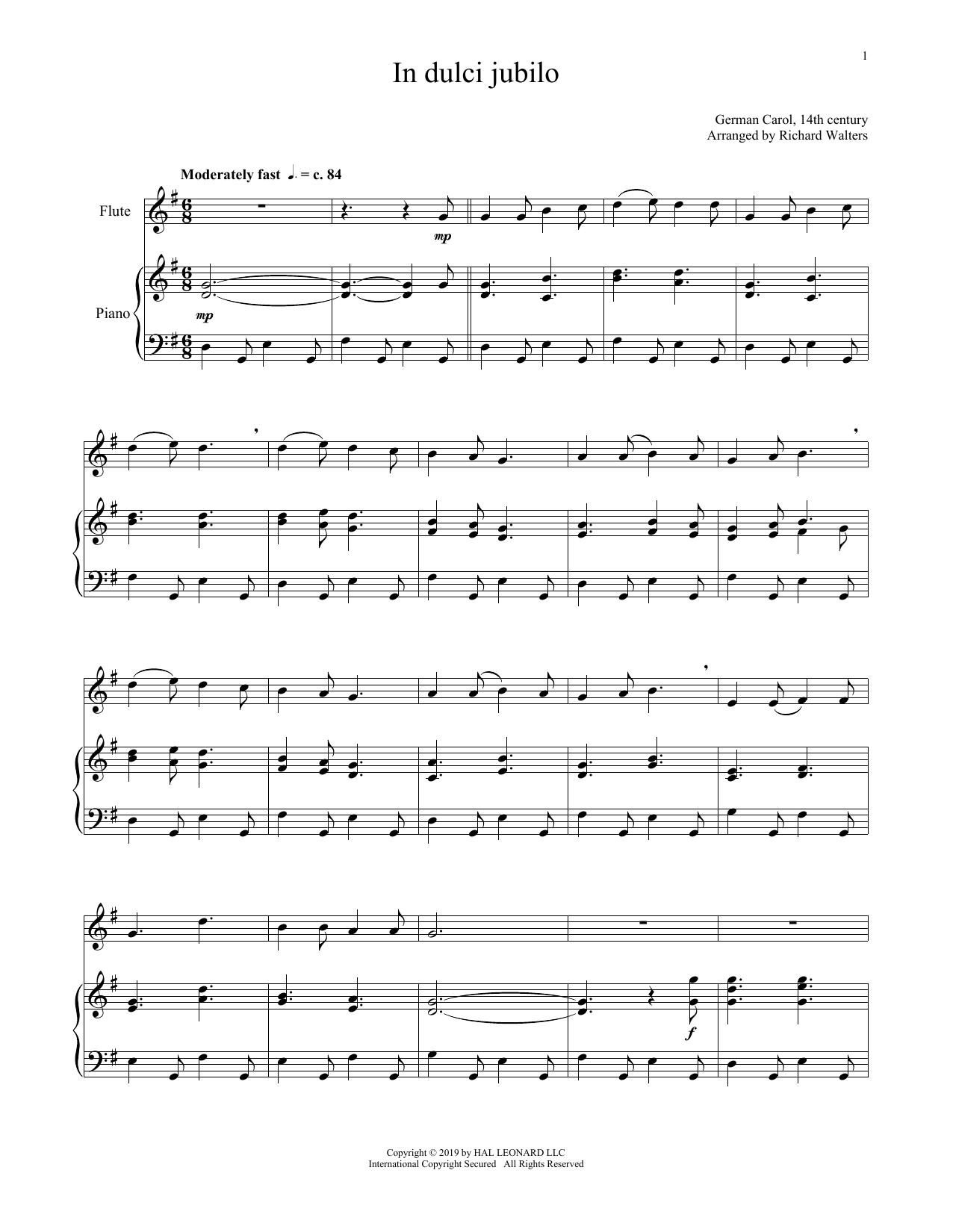 In Dulci Jubilo (Flute and Piano)