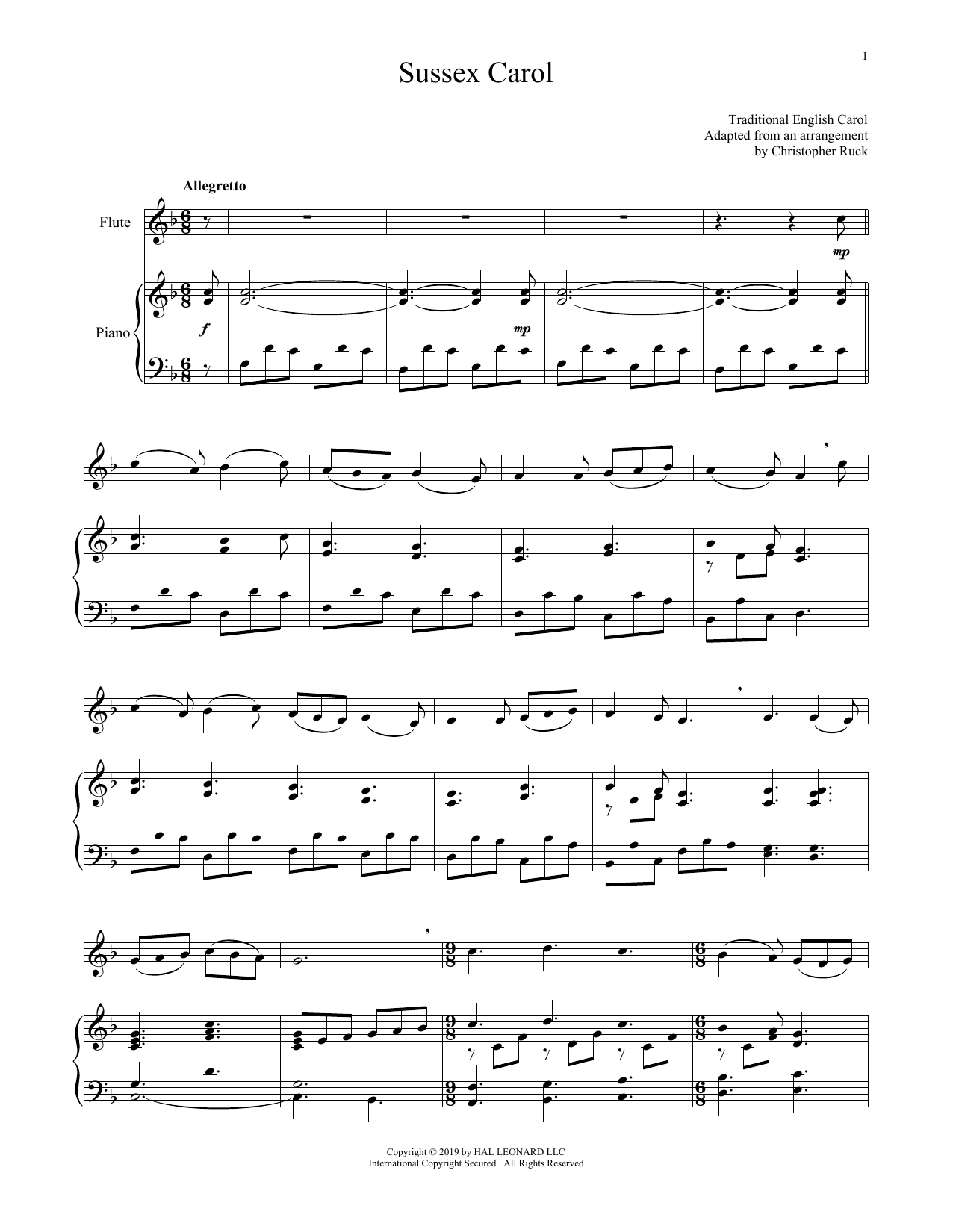 Sussex Carol (Flute and Piano)