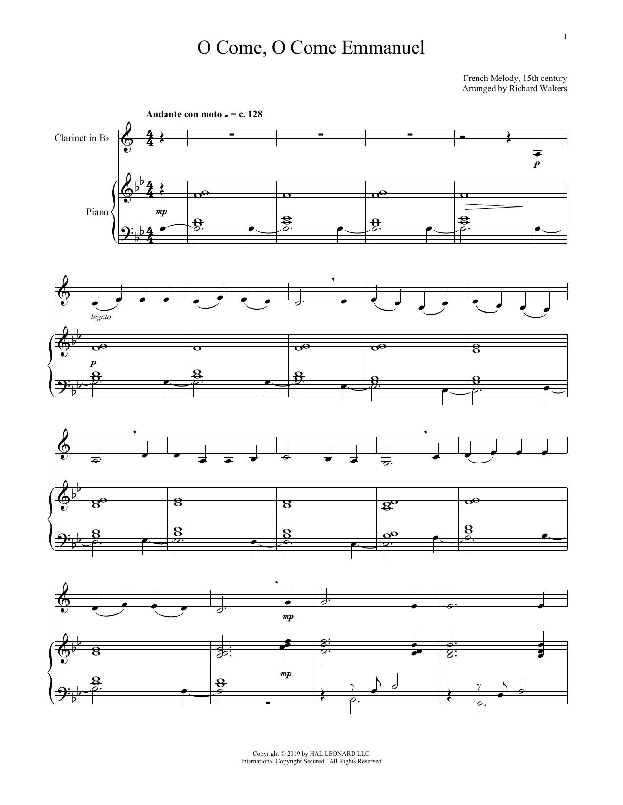 O Come, O Come, Emmanuel (Clarinet and Piano)