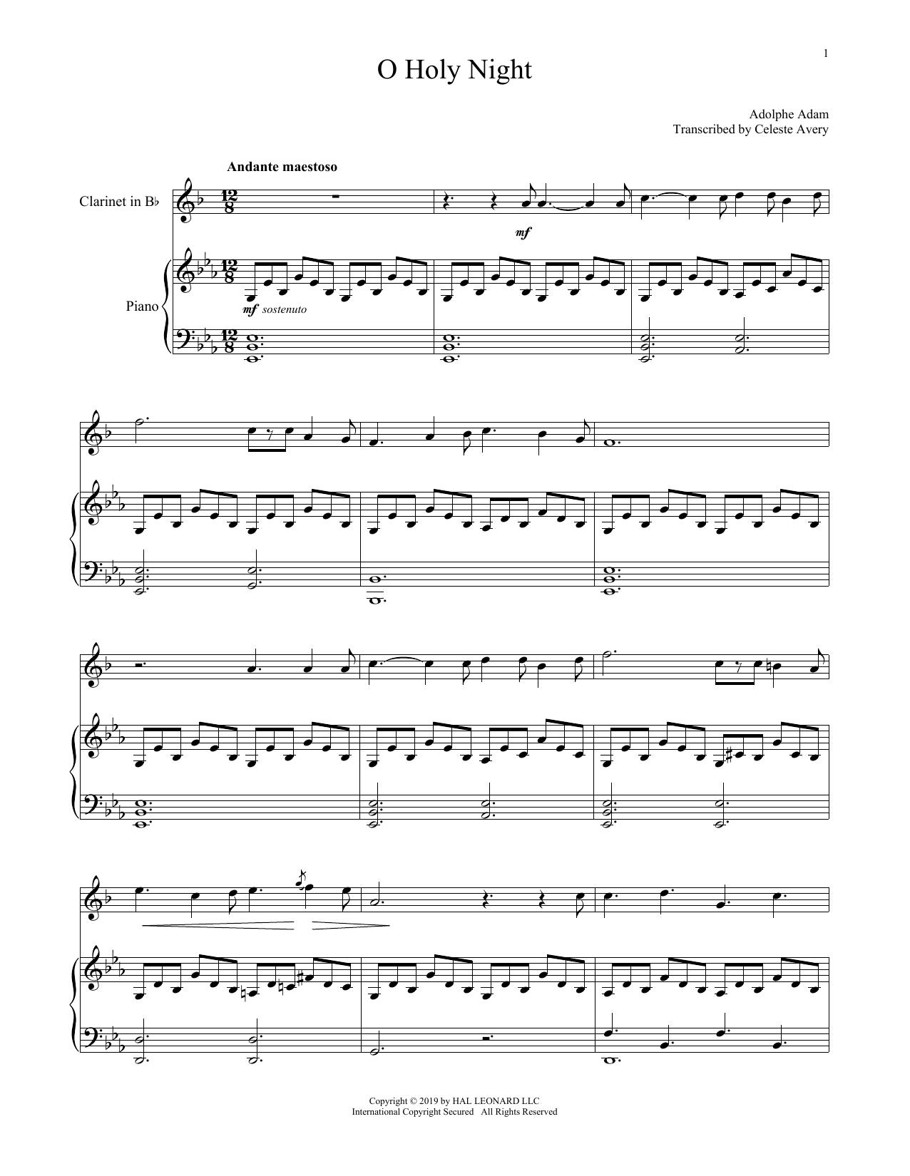 O Holy Night (Clarinet and Piano)