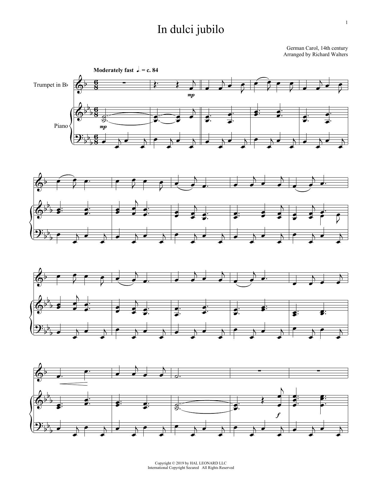 In Dulci Jubilo (Trumpet and Piano)