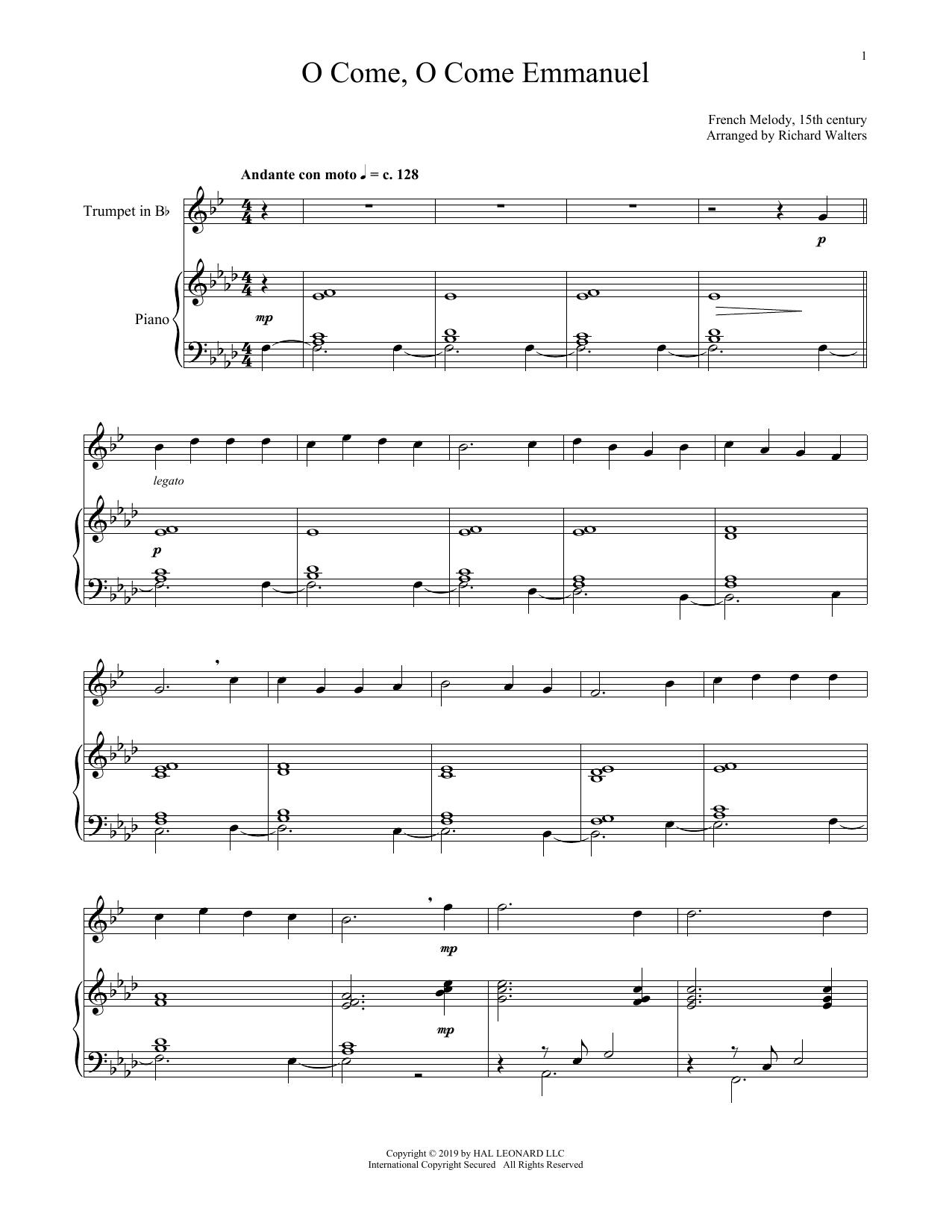 O Come, O Come, Emmanuel (Trumpet and Piano)