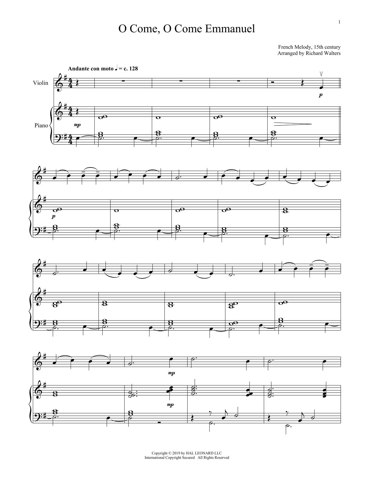 O Come, O Come, Emmanuel (Violin and Piano)