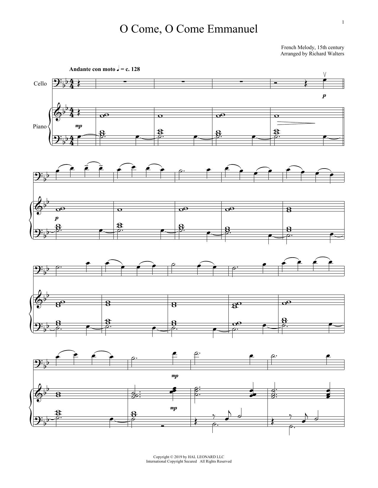 O Come, O Come, Emmanuel (Cello and Piano)