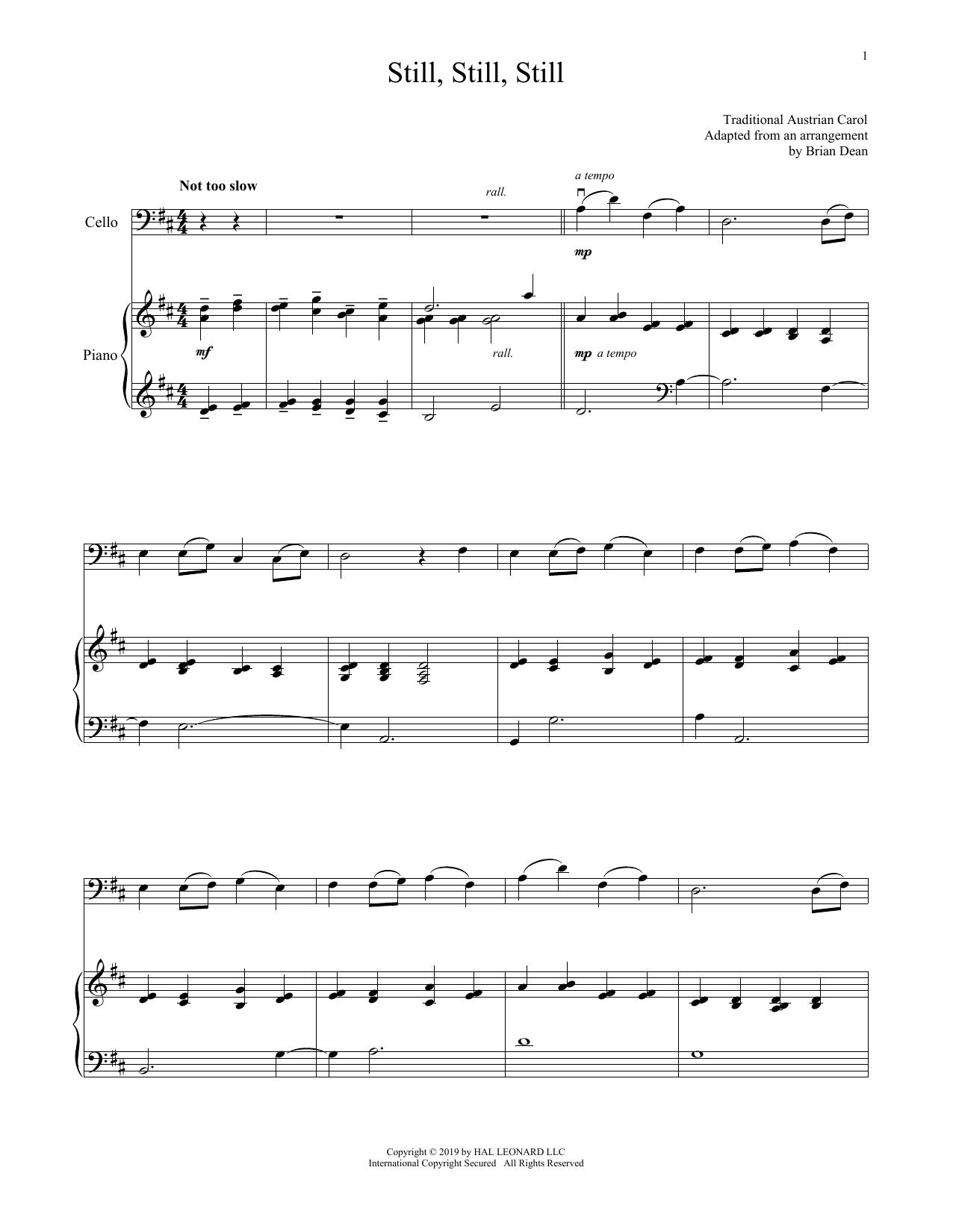 still, still, still (cello and piano) - print sheet music now  score exchange