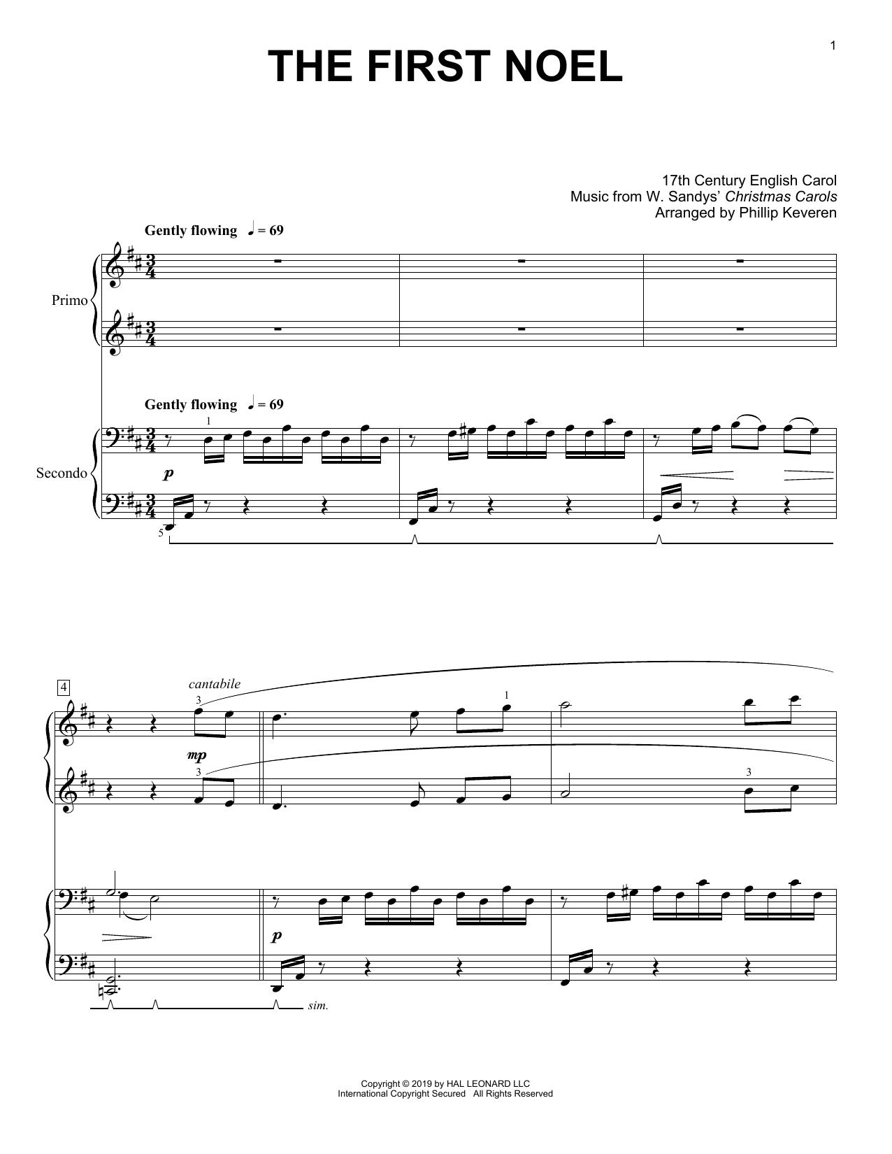 The First Noel (arr. Phillip Keveren) (Piano Duet)