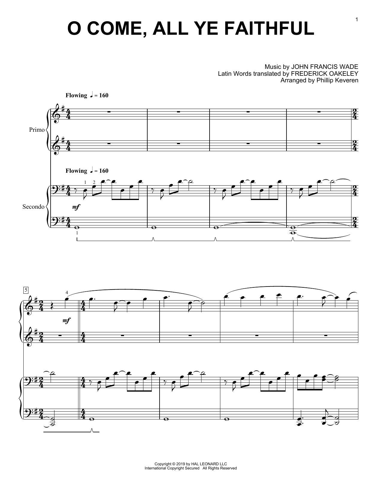 O Come, All Ye Faithful (arr. Phillip Keveren) (Piano Duet)