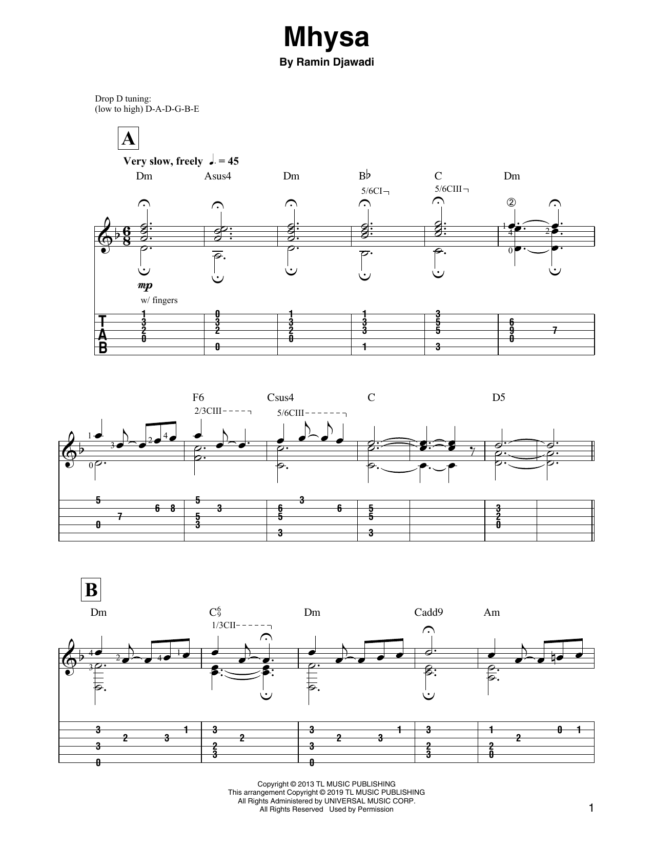 Mhysa (from Game of Thrones) (Solo Guitar Tab)