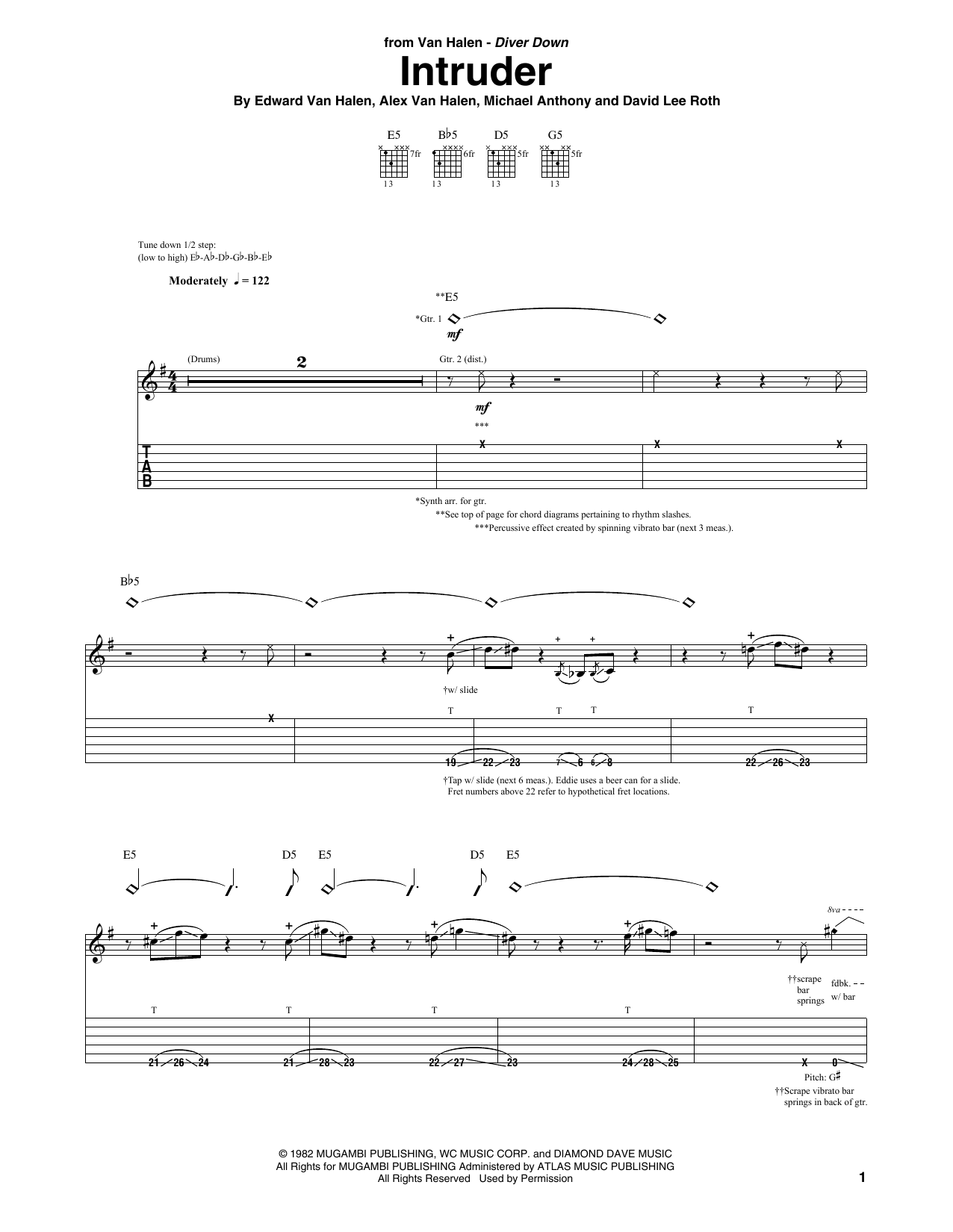 Intruder (Guitar Tab)