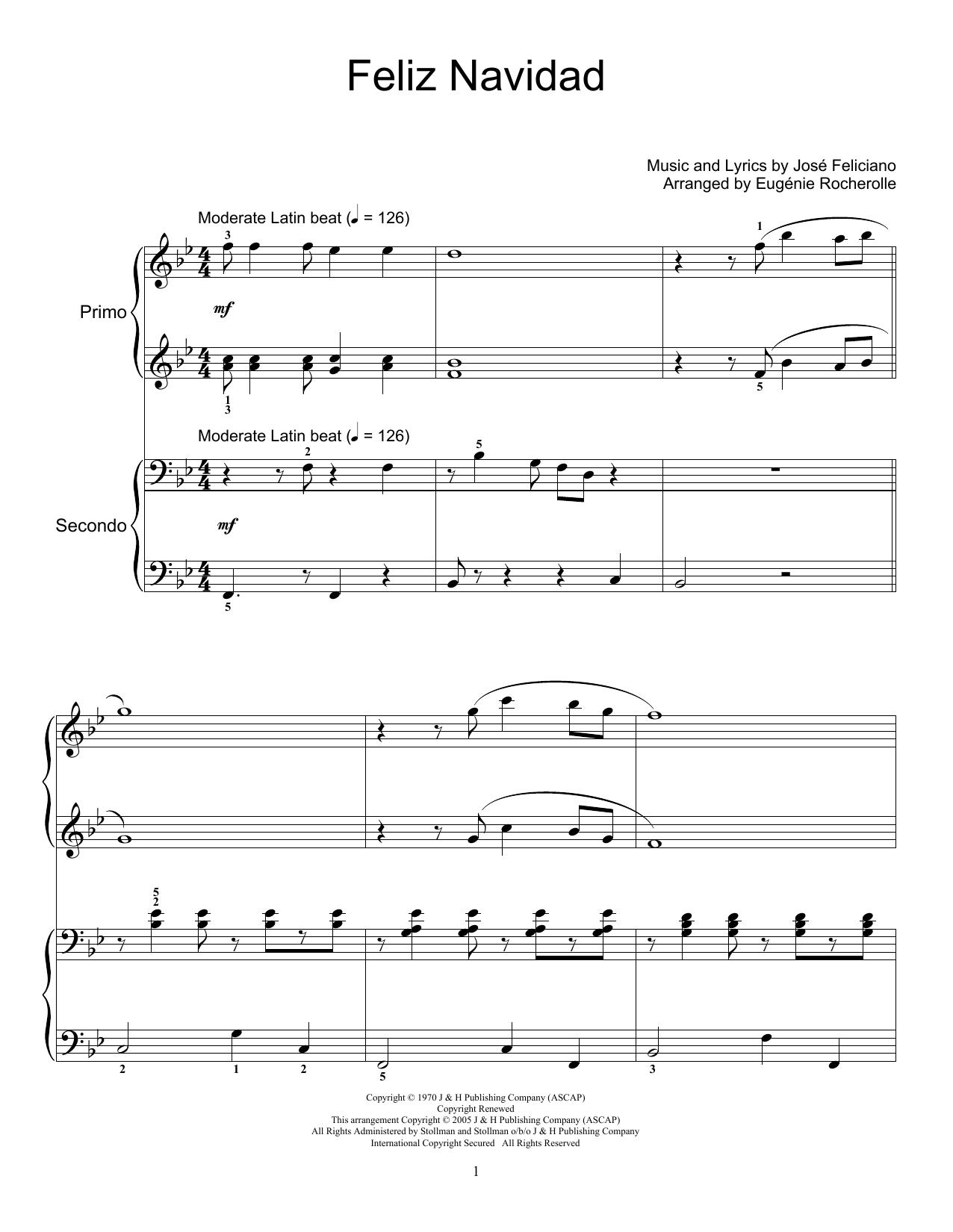 Feliz Navidad (Piano Duet)