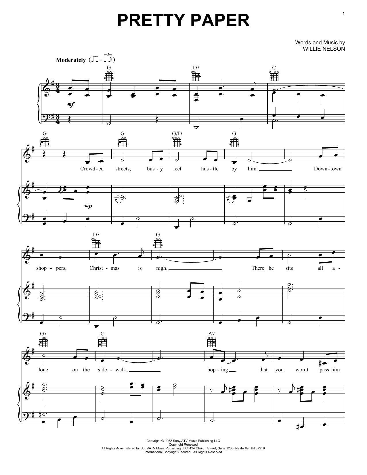 Pretty Paper (Vocal Pro + Piano/Guitar)
