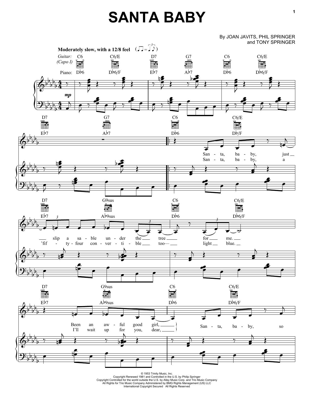 Santa Baby (Vocal Pro + Piano/Guitar)