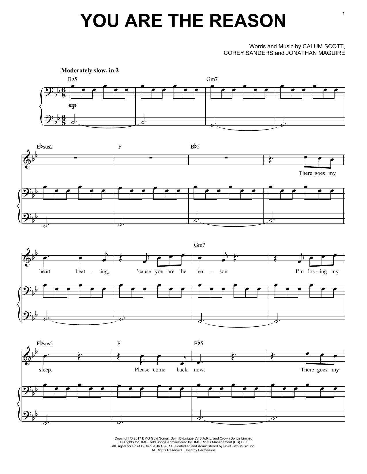 You Are The Reason (Piano & Vocal)