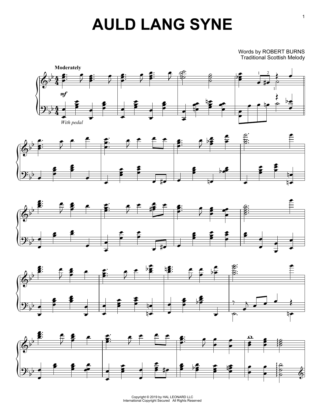 Auld Lang Syne (Piano Solo)