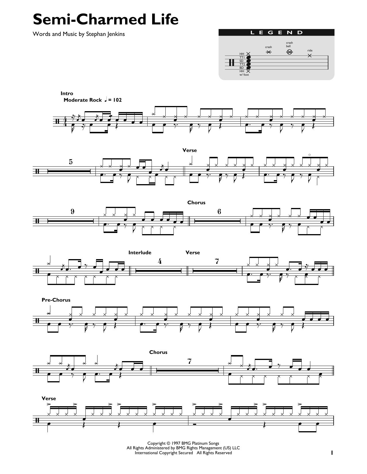 Semi-Charmed Life (Drum Chart)