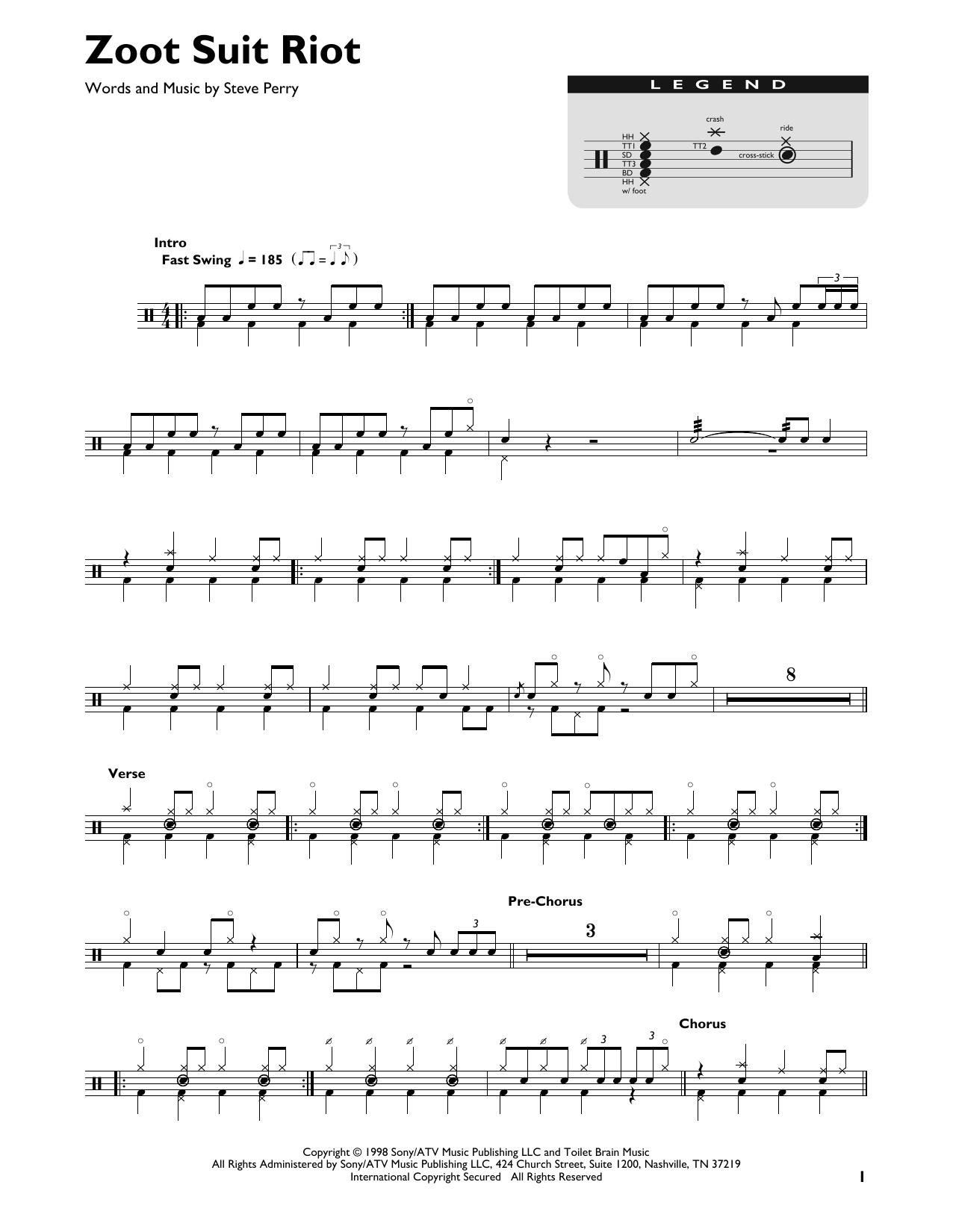 Zoot Suit Riot (Drum Chart)