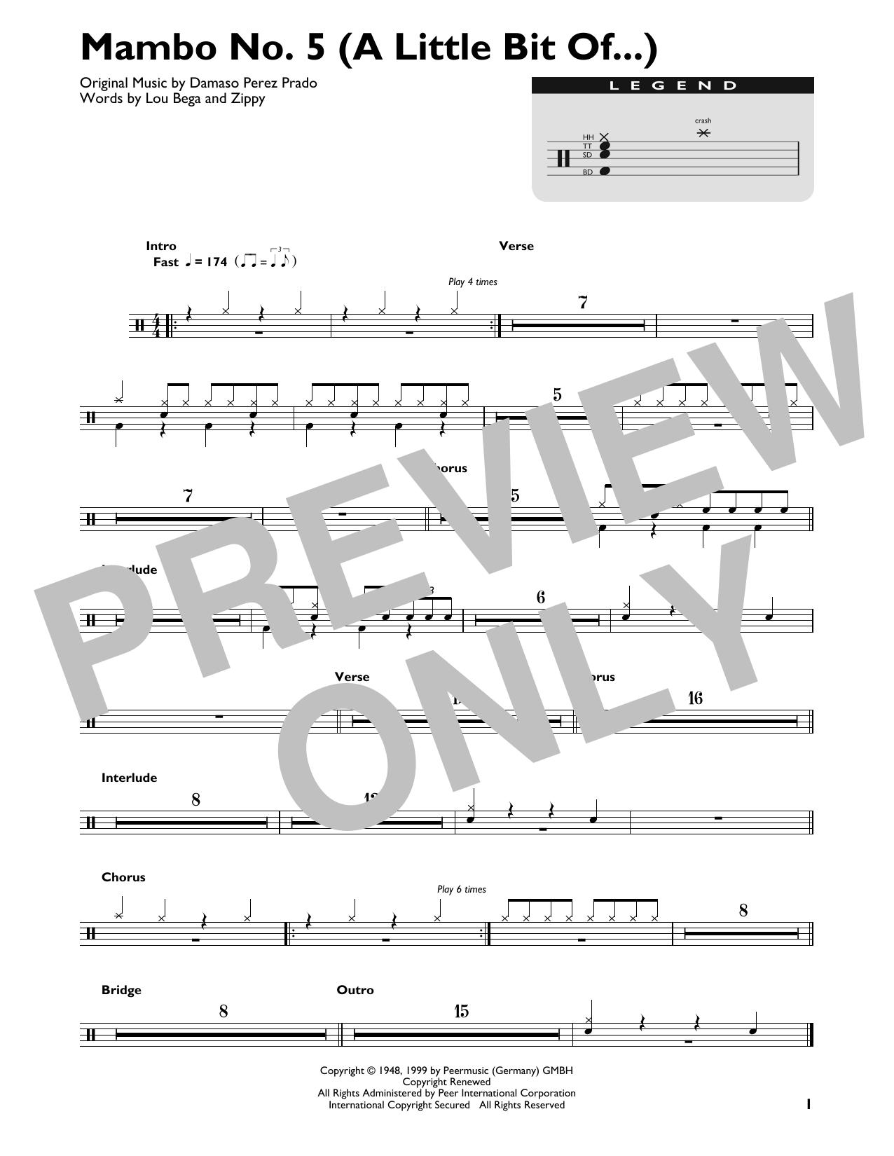 Mambo No. 5 (A Little Bit Of...) Sheet Music