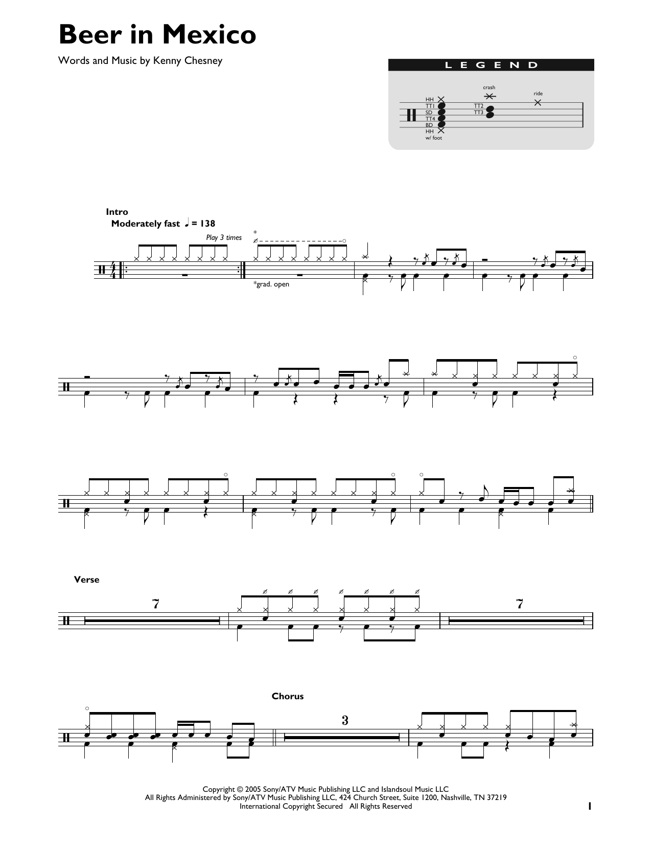 Beer In Mexico (Drums Transcription)