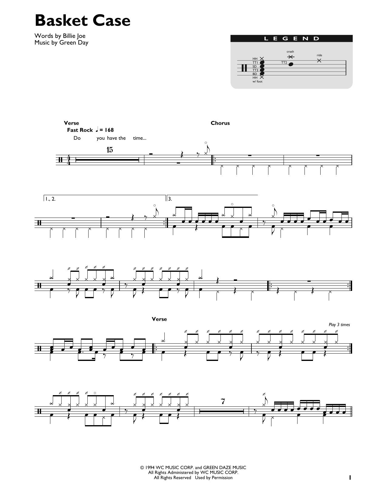 Basket Case Sheet Music