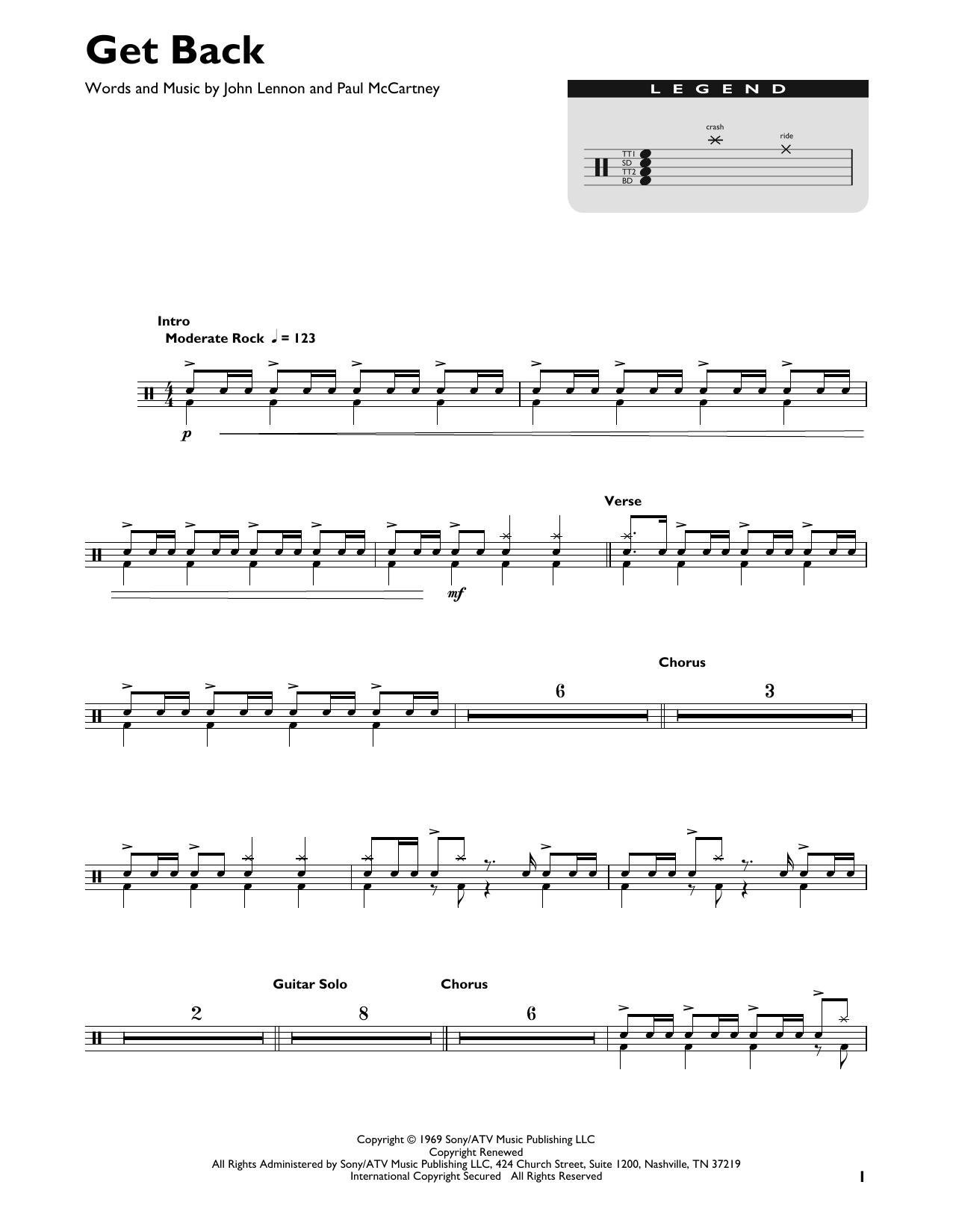 Get Back (Drums Transcription)