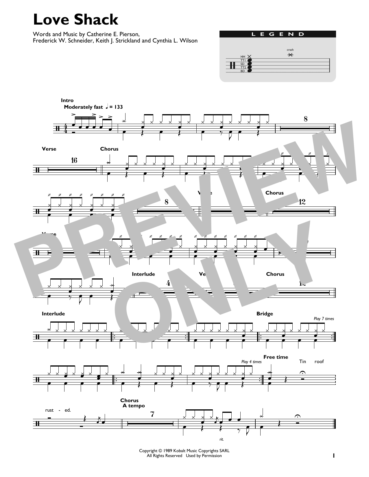 Love Shack (Drums Transcription)