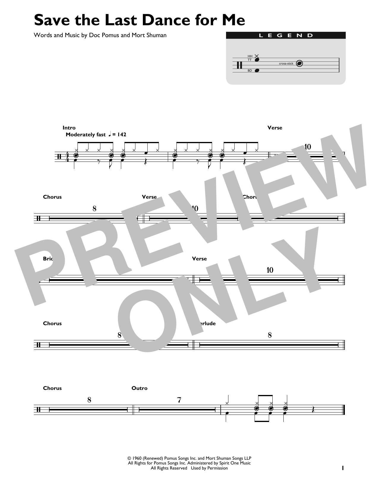 Save The Last Dance For Me Sheet Music