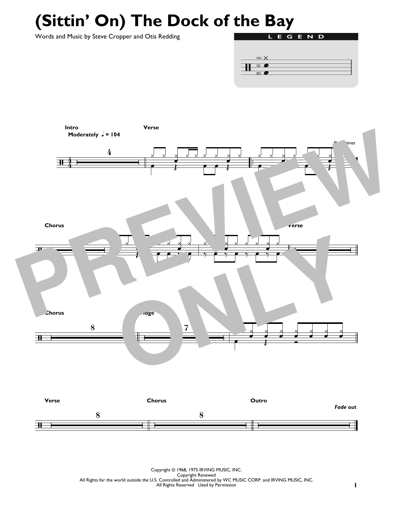 (Sittin' On) The Dock Of The Bay (Drum Chart)