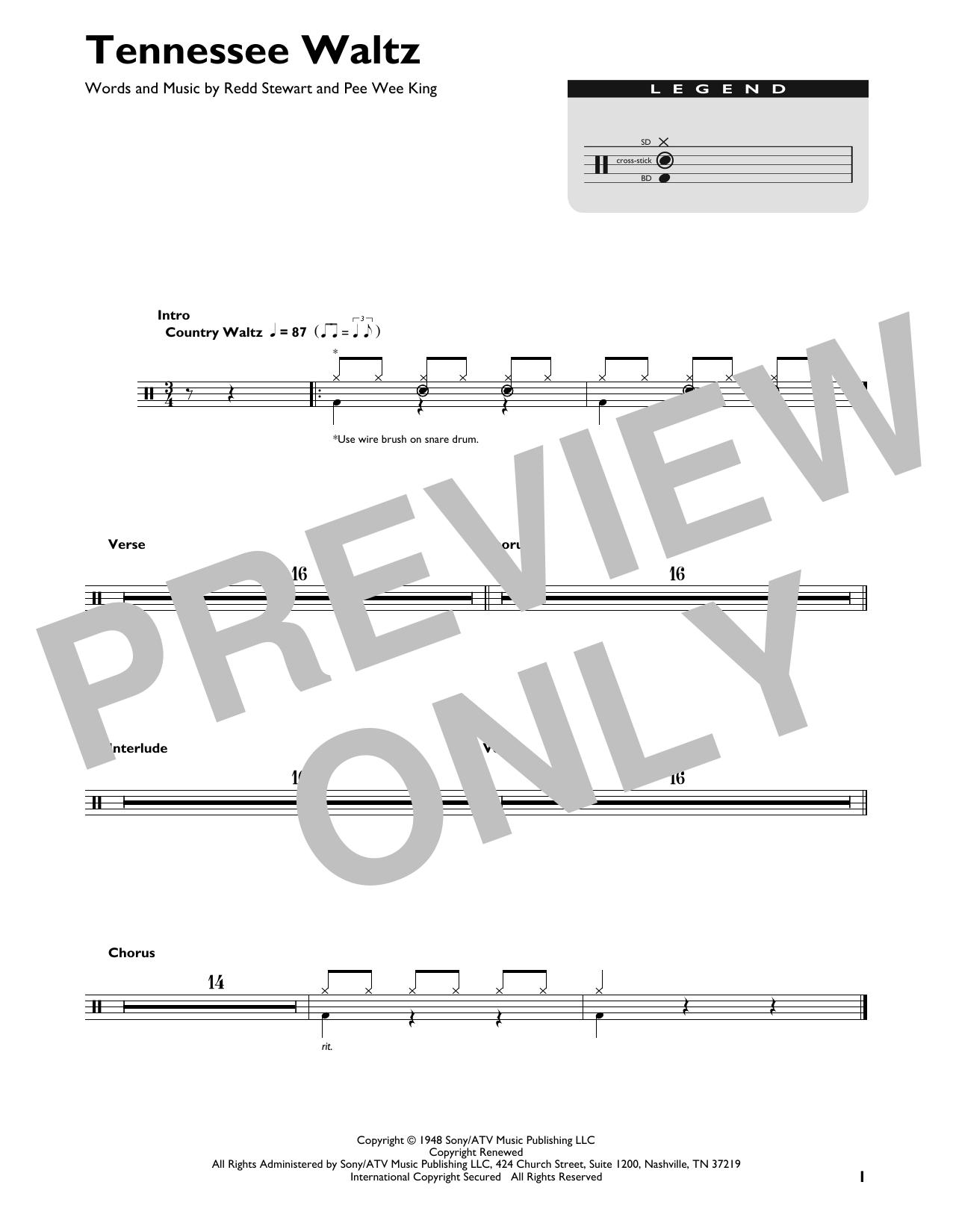 Tennessee Waltz (Drum Chart)