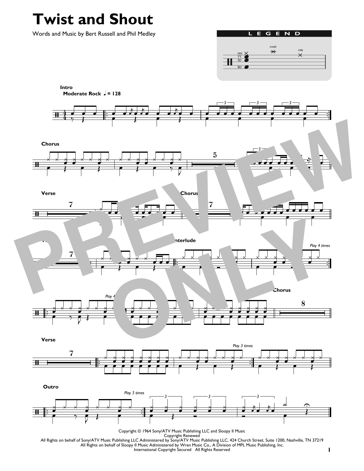 Twist And Shout (Drum Chart)