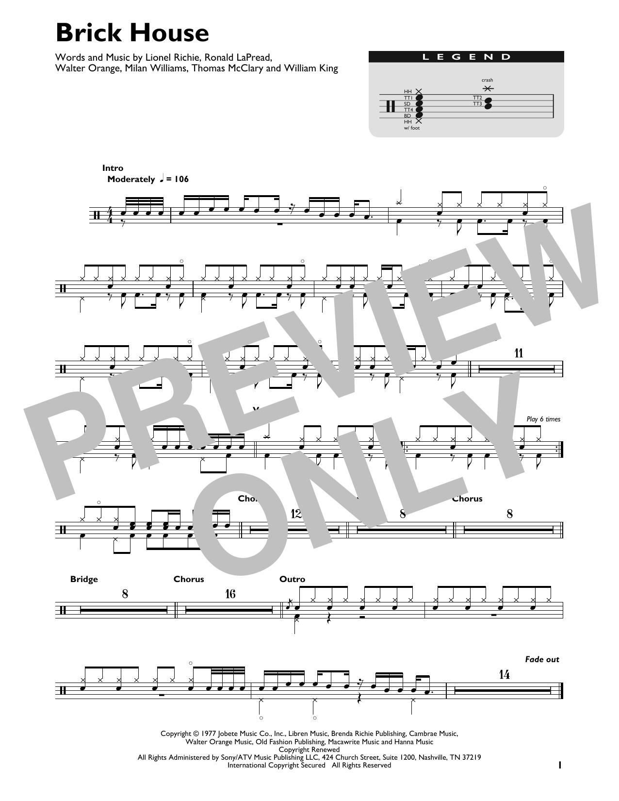Brick House Sheet Music