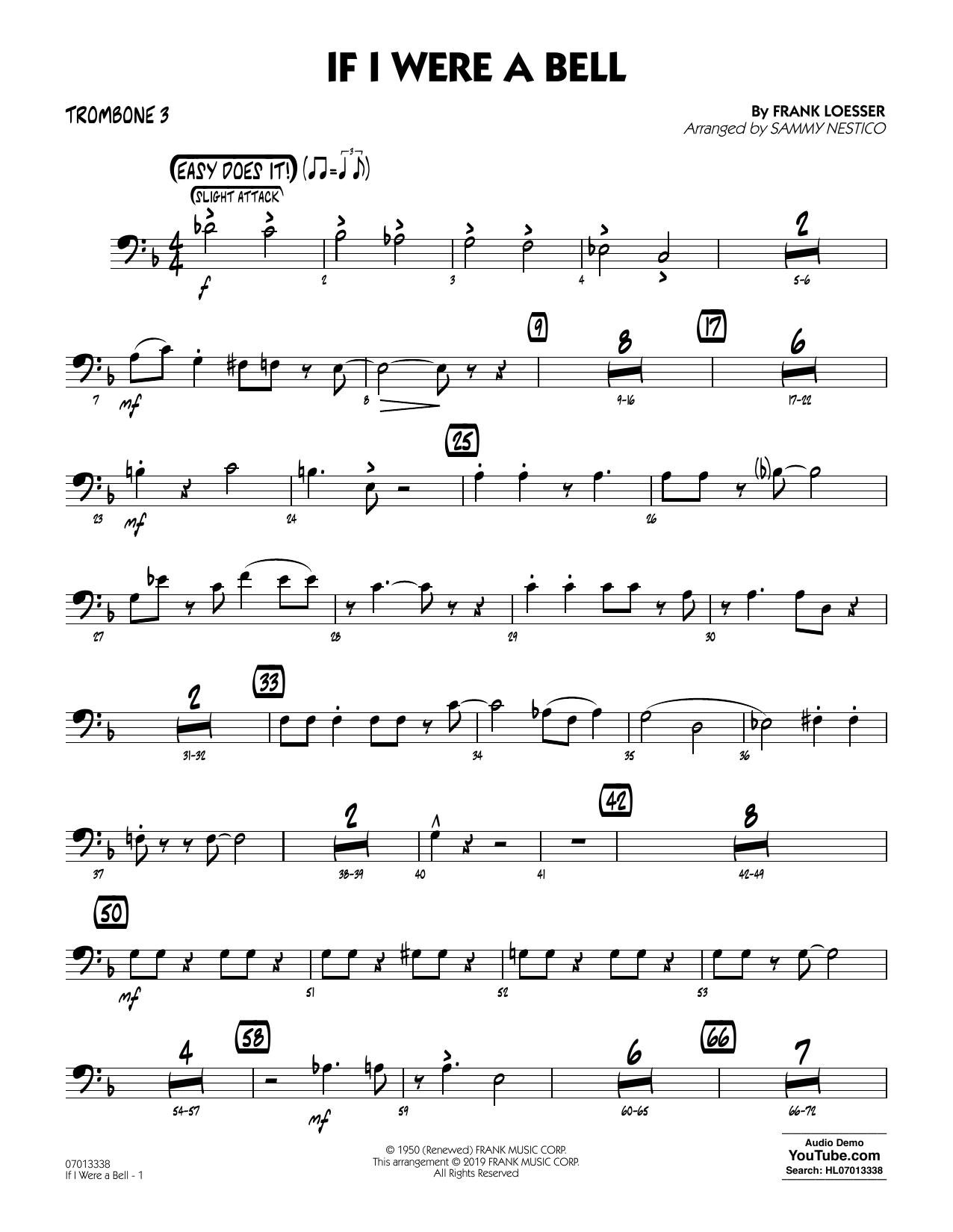 If I Were a Bell (arr. Sammy Nestico) - Trombone 3 (Jazz Ensemble)