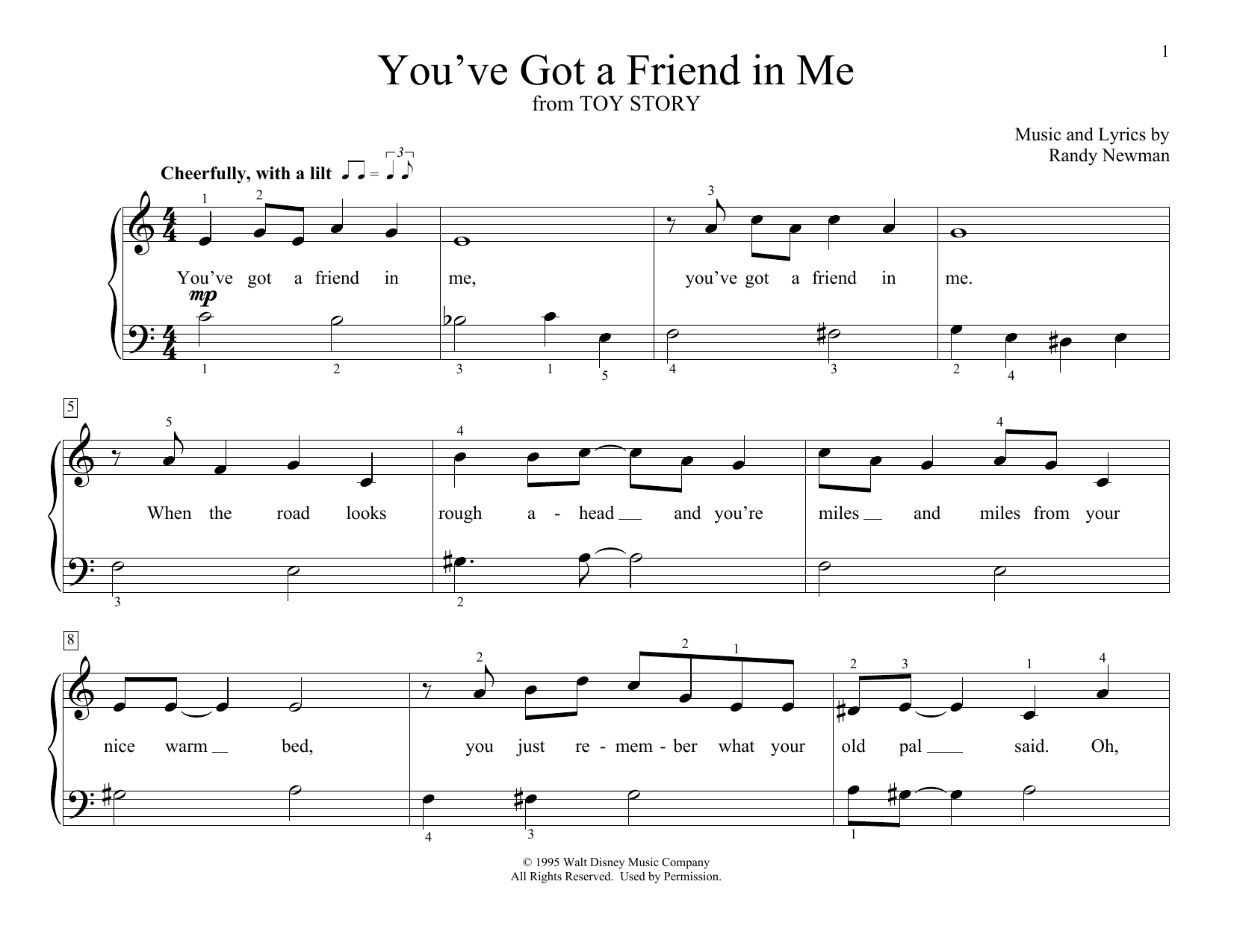 You've Got A Friend In Me (from Toy Story) (arr. Christopher Hussey) (Educational Piano)