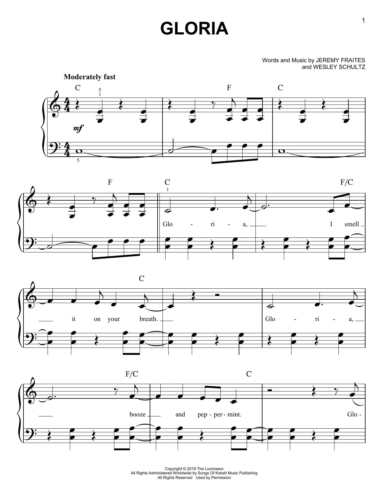 Gloria (Easy Piano)