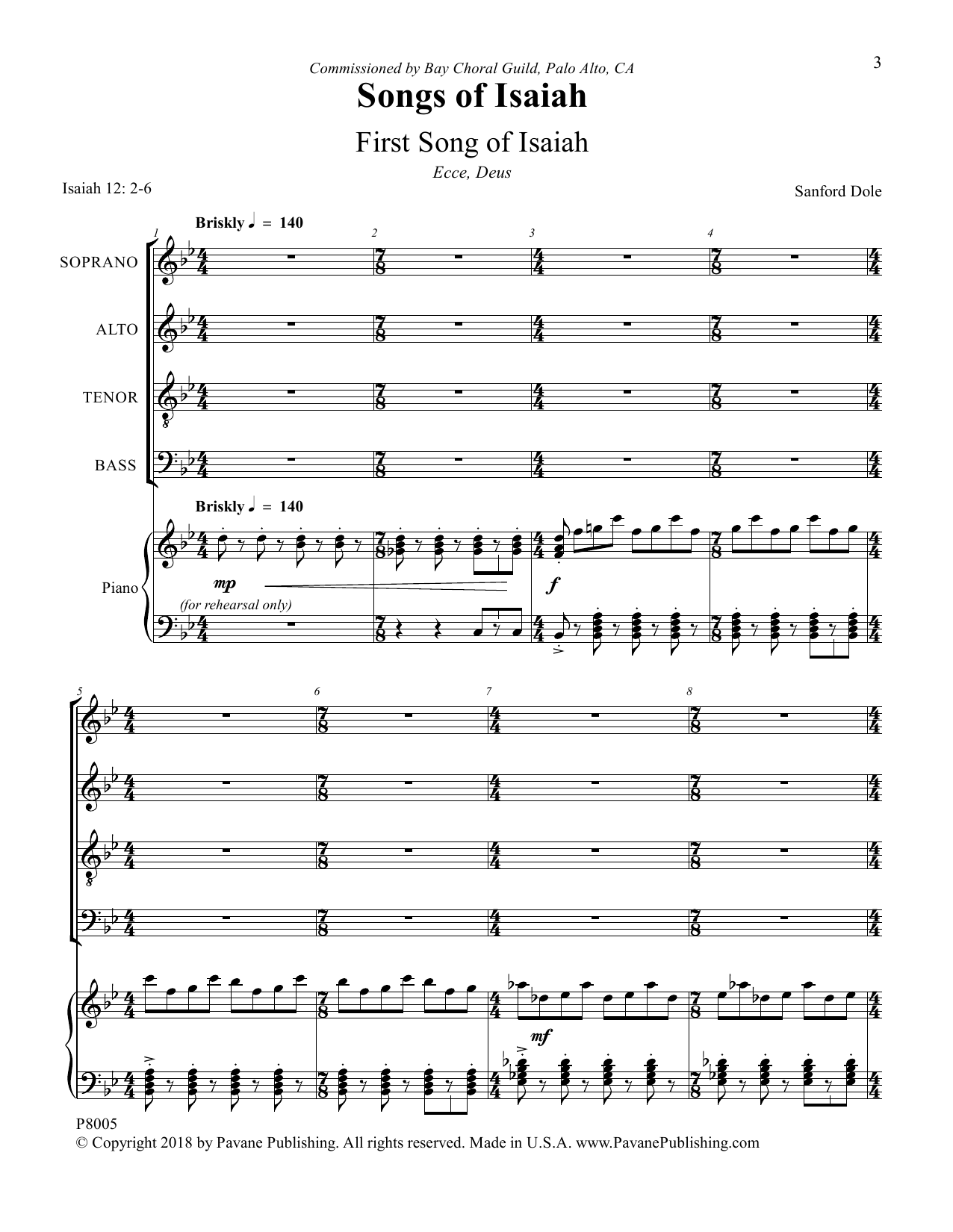 Songs of Isaiah Sheet Music